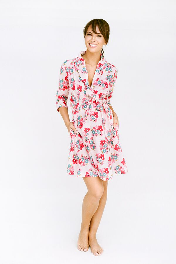 Maternity Robe with Florals