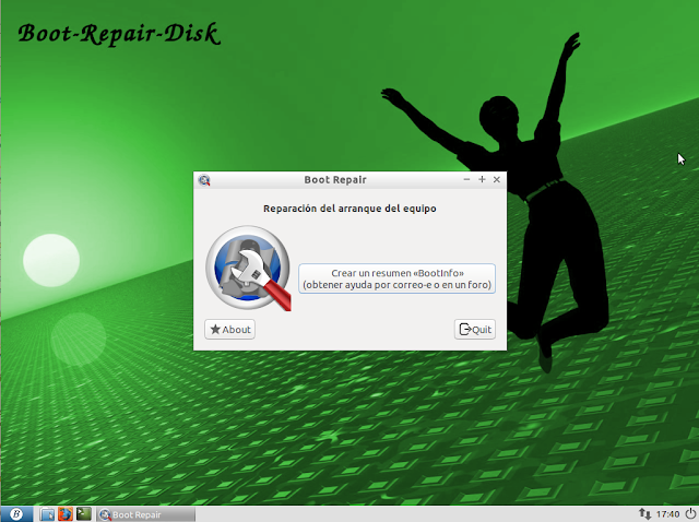 Boot-Repair-Disk r4359 | Repara inicio de Windows con este disco de rescate basado en Linux
