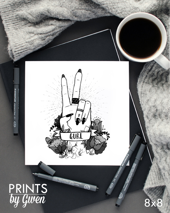 Opening an Etsy Shop | Prints by Gwen