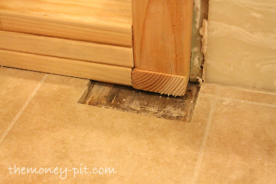 Master Bathroom Days Shower Curb Waterproofing And Floor - How to waterproof a shower floor before tiling