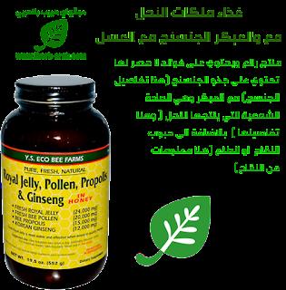 غذاء ملكات النحل مع والعبكر الجنسنج مع العسل  Y.S. Eco Bee Farms, Royal Jelly Propolis & Ginseng in Honey, 19.5 oz (552 g)