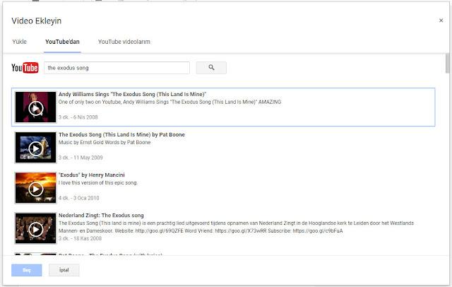 blogger yazılara youtubedan video çekme