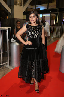 Niveda Thomas Black Sleeveless Cute Dress at 64th Jio Filmfare Awards South 2017 ~  Exclusive 091.JPG