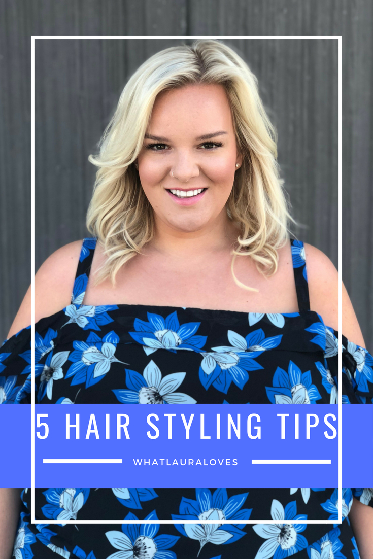 5 Tips For Styling Hair By UK Beauty Blogger WhatLauraLoves Plus Size Simply Be