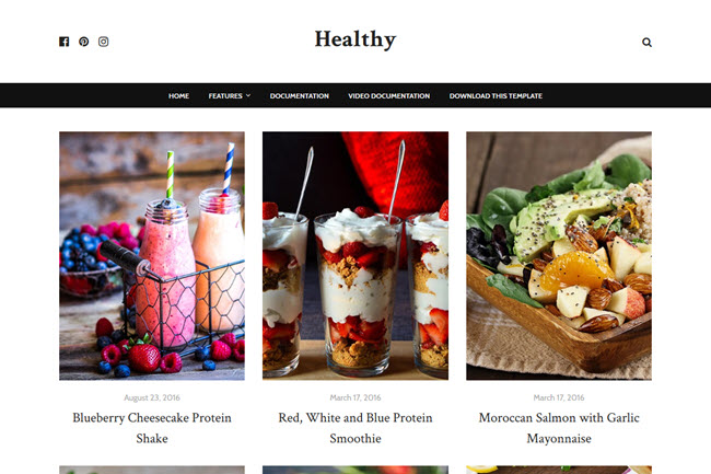 Healthy – Responsive Food Blogger Template
