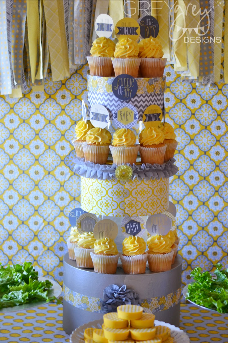 Yellow And Grey Baby Shower