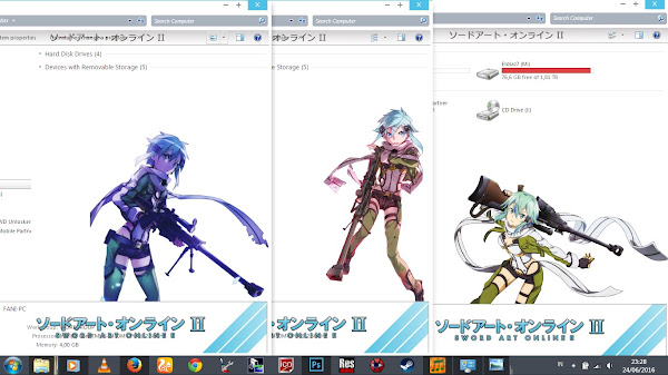 [Theme Win 7] Sword Art Online II – Asada Sinon by Eldiaz7 5