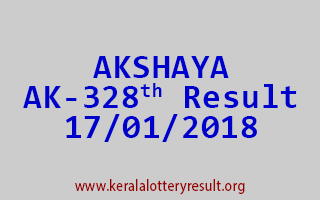 AKSHAYA Lottery AK 328 Results 17-01-2018