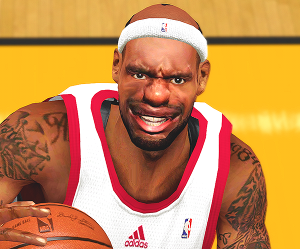 NBA 2K14 Funny LeBron James Face & Hairline Mod