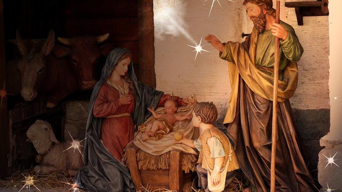 Wallpaper: Birth of Jesus scene at every Christmas