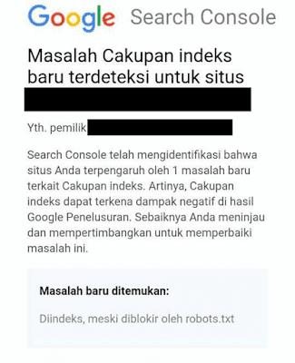 Gmail Masalah Cakupan Indeks