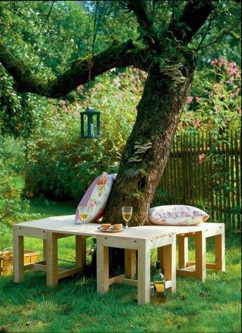 seating around a tree