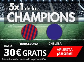 suertia promocion champions Barcelona vs Chelsea 14 marzo