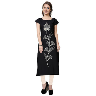 BUY NOW Flower Print Black Ziyaa Kurti