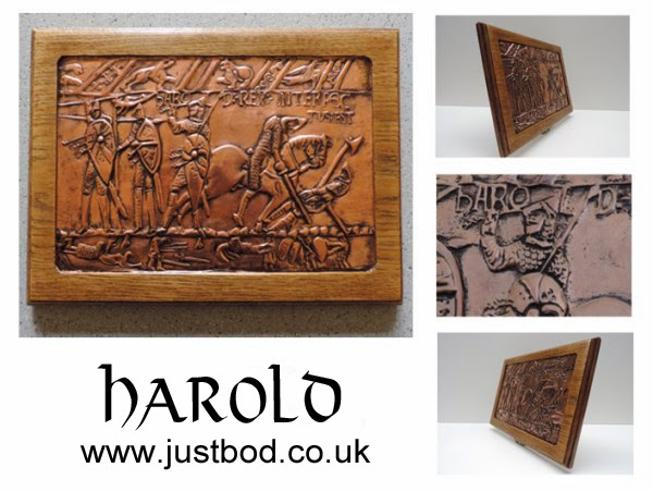 Death of Harold at Hastings - sculpted wall plaque by bod