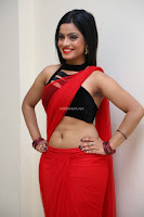 Aasma Syed in Red Saree Sleeveless Black Choli Spicy Pics ~  Exclusive Celebrities Galleries 030.jpg