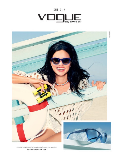 Adriana Lima stars in Vogue Eyewear's SS 2016 campaign