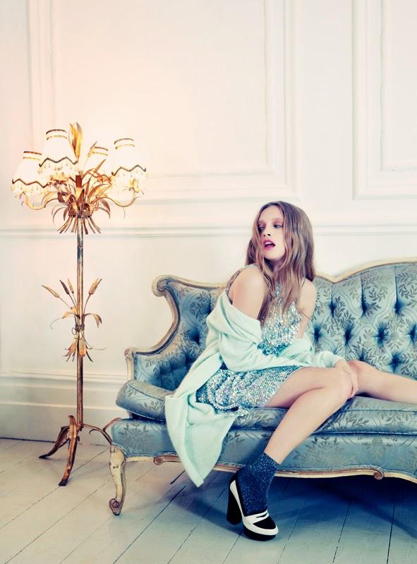Glitter Girl : Karoliina Barlund shoots fashion for Company Magazine