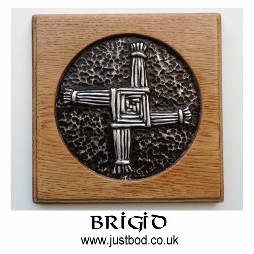 Brigid's Cross sculpted plaque