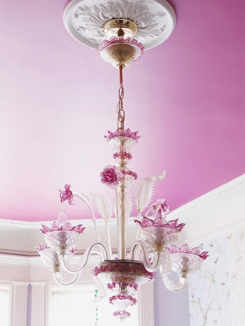 Pink chandelier - Interiors Decor