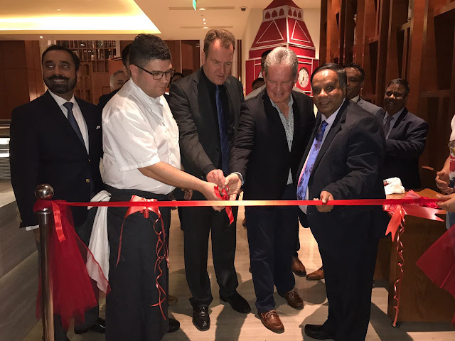 "DAVID LELLIOT AND ANDREW AYRE, THE NEW BRITISH DEPUTY HIGH COMMISSIONER AT THE INAUGURATION CEREMONY OF ""TASTE OF BRITAIN"" CURRY FESTIVAL"