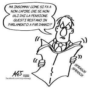 pensioni, parlamento, vitalizi, vignetta, satira