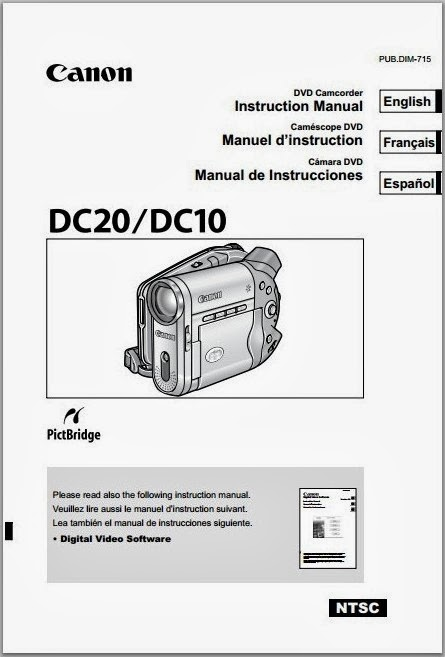 Canon DC10 Manual Cover