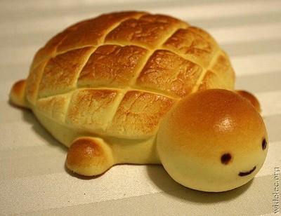Roti bentuk kura-kura