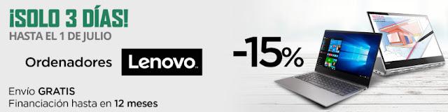 Mejores ofertas ¡Solo 3 Días! en ordenadores Lenovo de El Corte Inglés