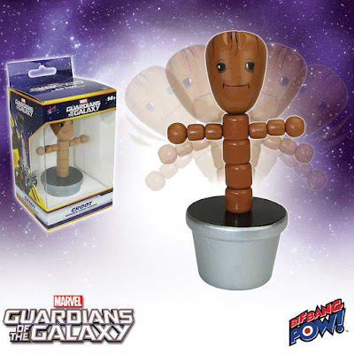 Guardians of the Galaxy Groot Wood Push Puppet with Silver Base by Bif Bang Pow! x Marvel Comics