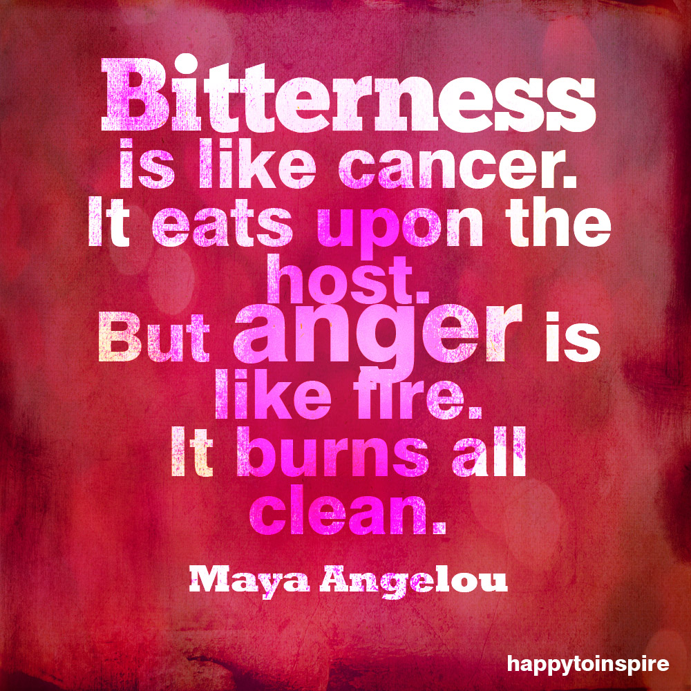 Sayings About Bitterness: Happy To Inspire: Quote Of The Day: Anger