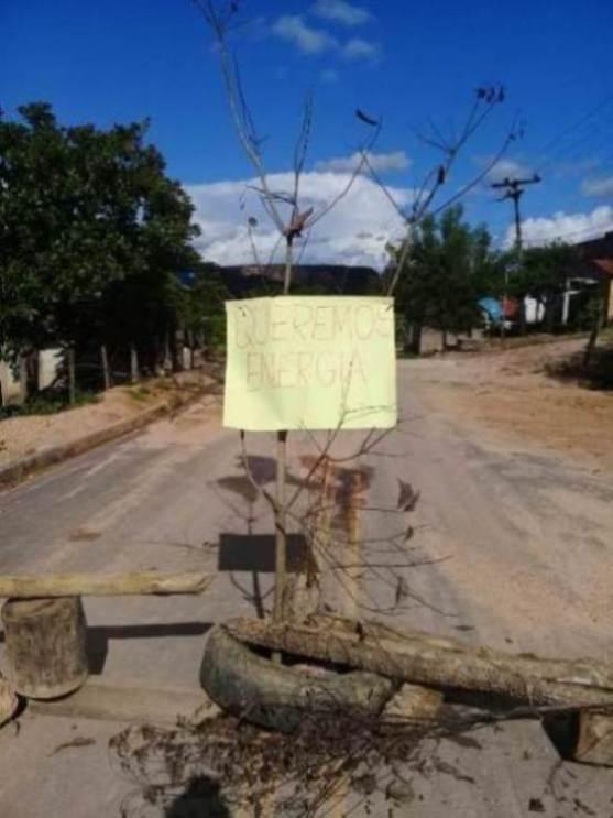 Protesto de moradores em Santa Filomena