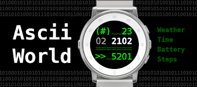 Ascii world watchface - Pebble Time Round