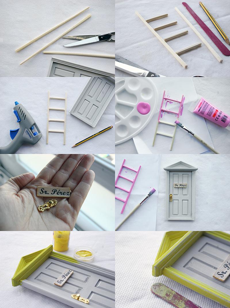 Diy nuestra puerta del ratoncito p rez f cil decorar en for Materiales para hacer una puerta