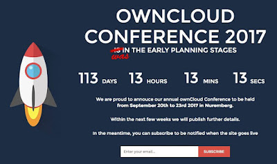 ownCloud Conference 2017 Will be held at TH Nürnberg from September, 20th – 23rd
