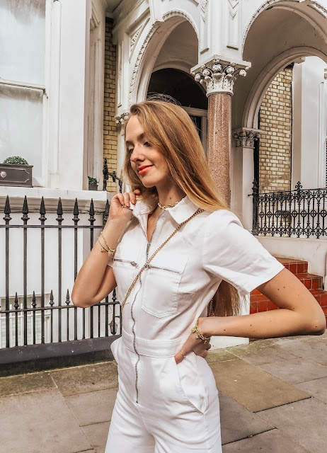 Topshop All in One White Denim Boiler Suit