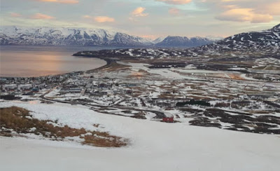 Dalvik ski resort in North Iceland
