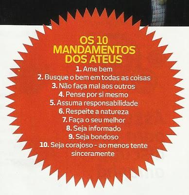 Os dez mandamentos dos ateus