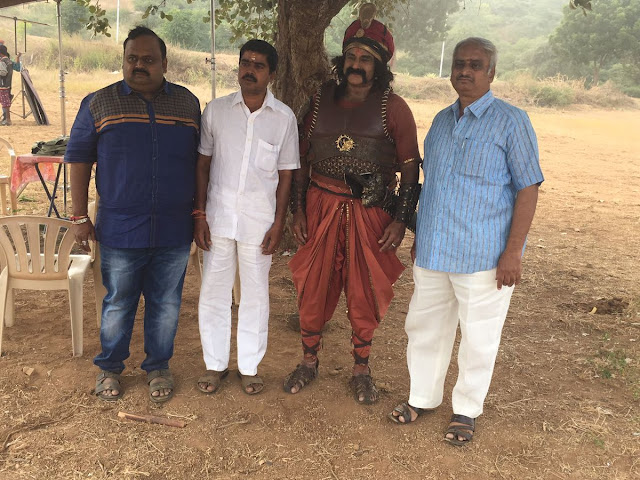 Gautamiputra satakarni Telugu movie Latest Working Stills