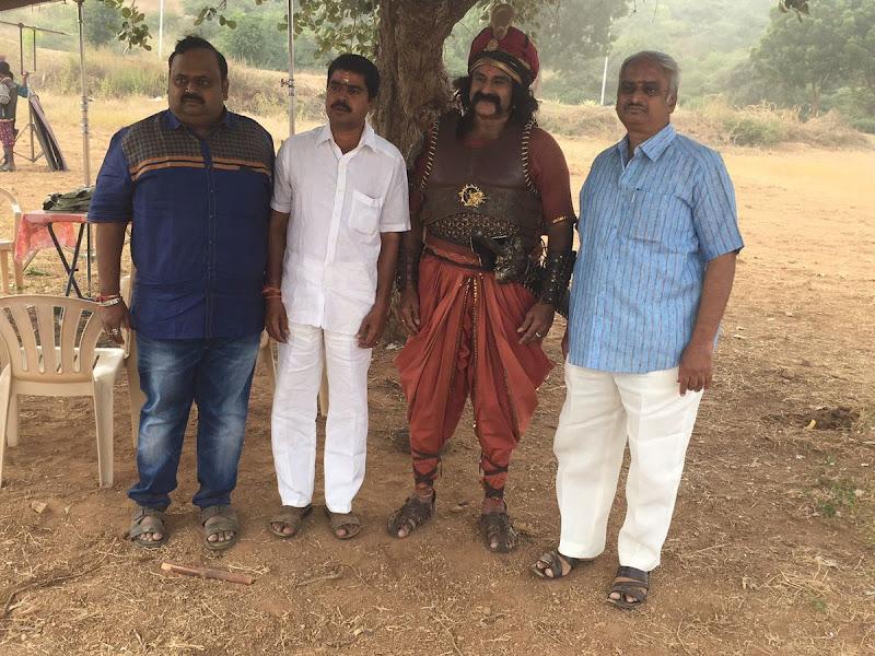 Gautamiputra satakarni Telugu movie Latest Working Stills