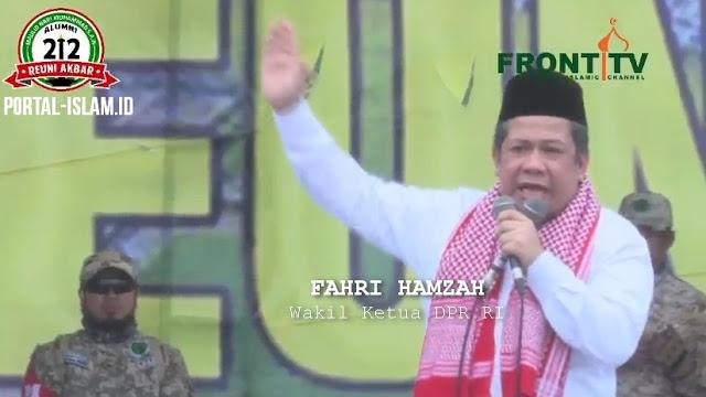 Pidato #ReuniAkbar212, Fahri Hamzah: Pak Jokowi Anda seharusnya hadir disini, Inilah Umat Islam penjaga NKRI
