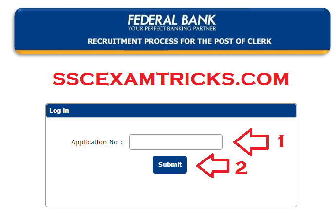 FEDERAL BANK 2015 ADMIT CARDS