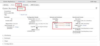 Provisioning Cluster Amazon EMR