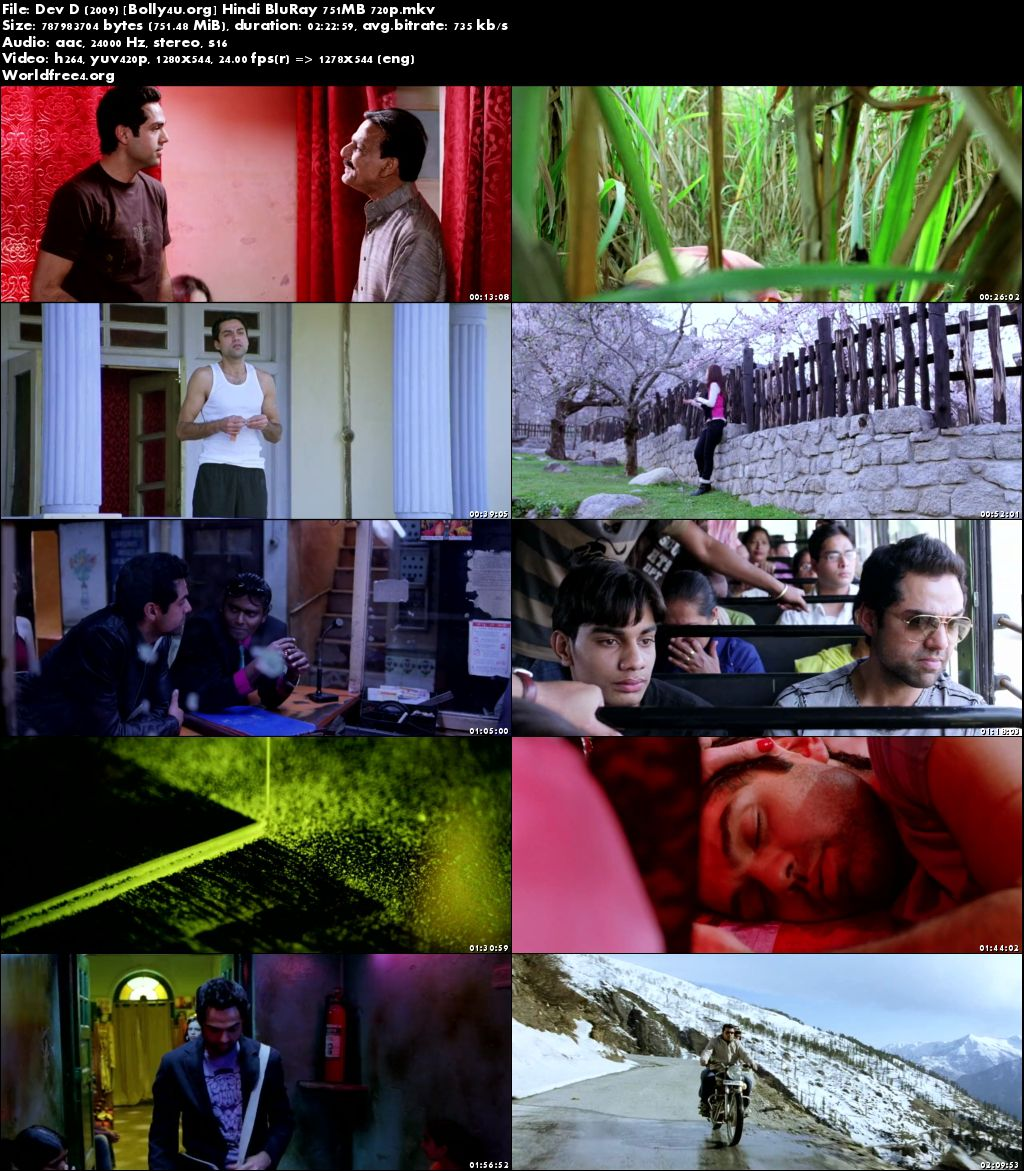 Dev D 2009 BluRay 750MB Hindi Movie 720p Download