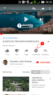 Mendownload video youtube di Android