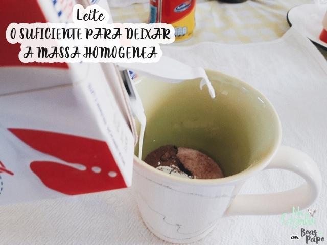 NaCozinha: Bolo de caneca no microondas - LEITE