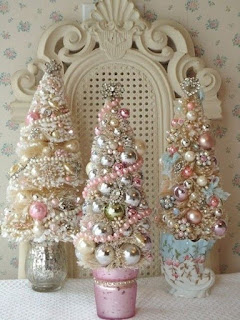 alberi di natali dall'aria vintage