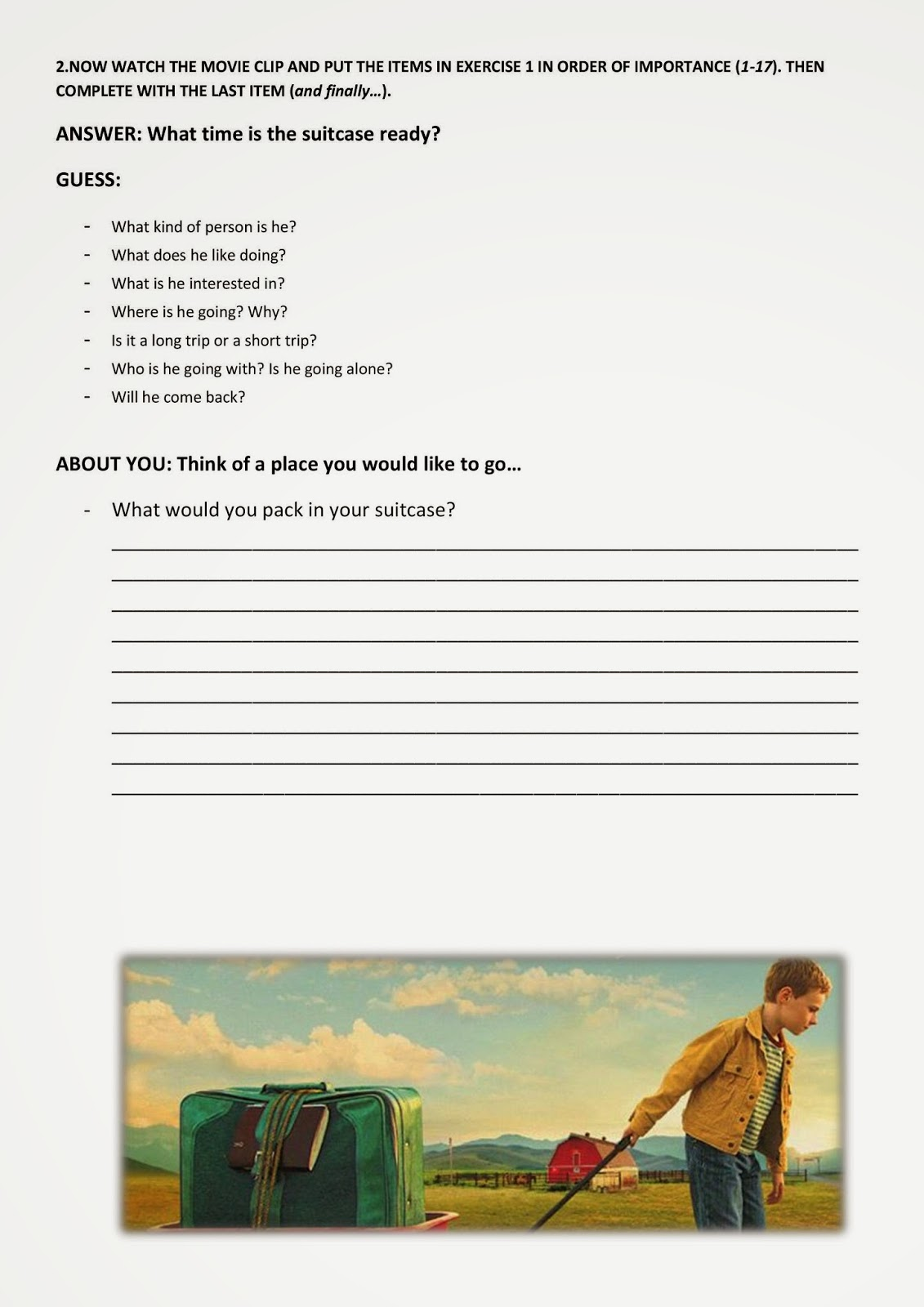 Movie Segments To Assess Grammar Goals The Young And Prodigious T S Spivet Preposition In X On