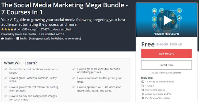 [100% Off] The Social Media Marketing Mega Bundle - 7 Courses In 1| Worth 199,99$