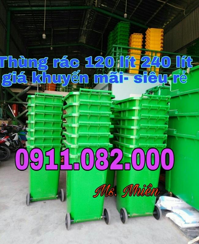 Nơi bỏ sỉ lẻ thùng rác 120 lít 240 lít giá rẻ tại bình dương, thùng rác đủ kích thước- lh 0911082000